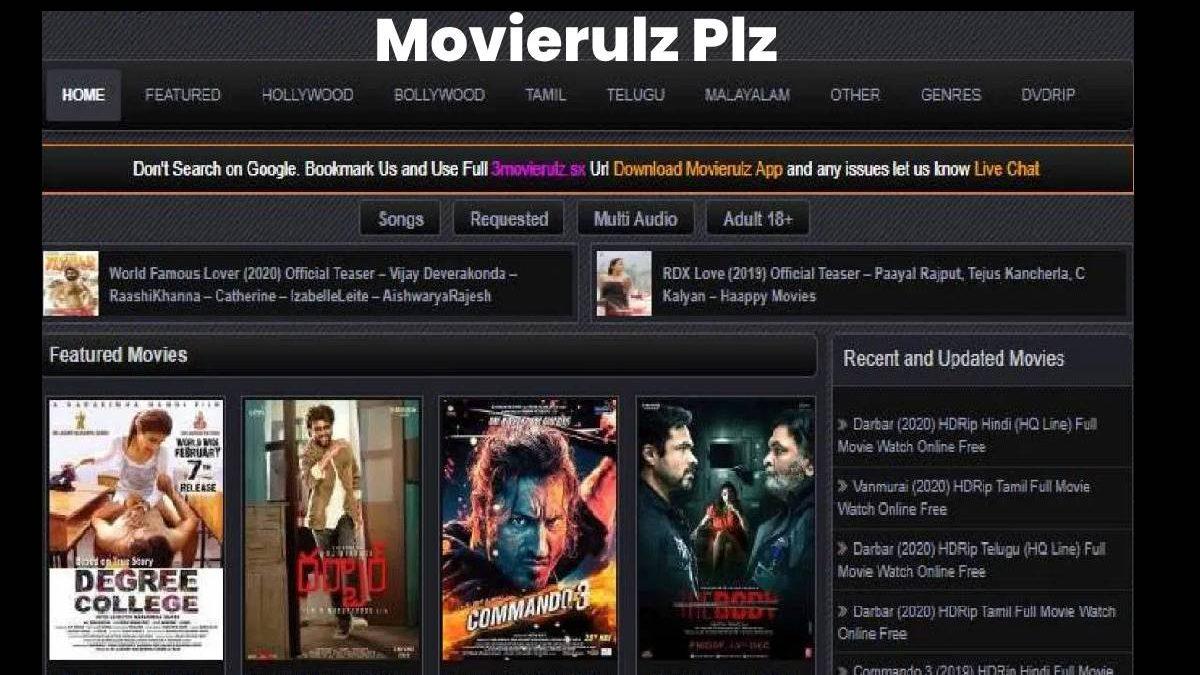 Movierulz Plz Movies Download Sept 2020 Watch & Download HD Movies Online
