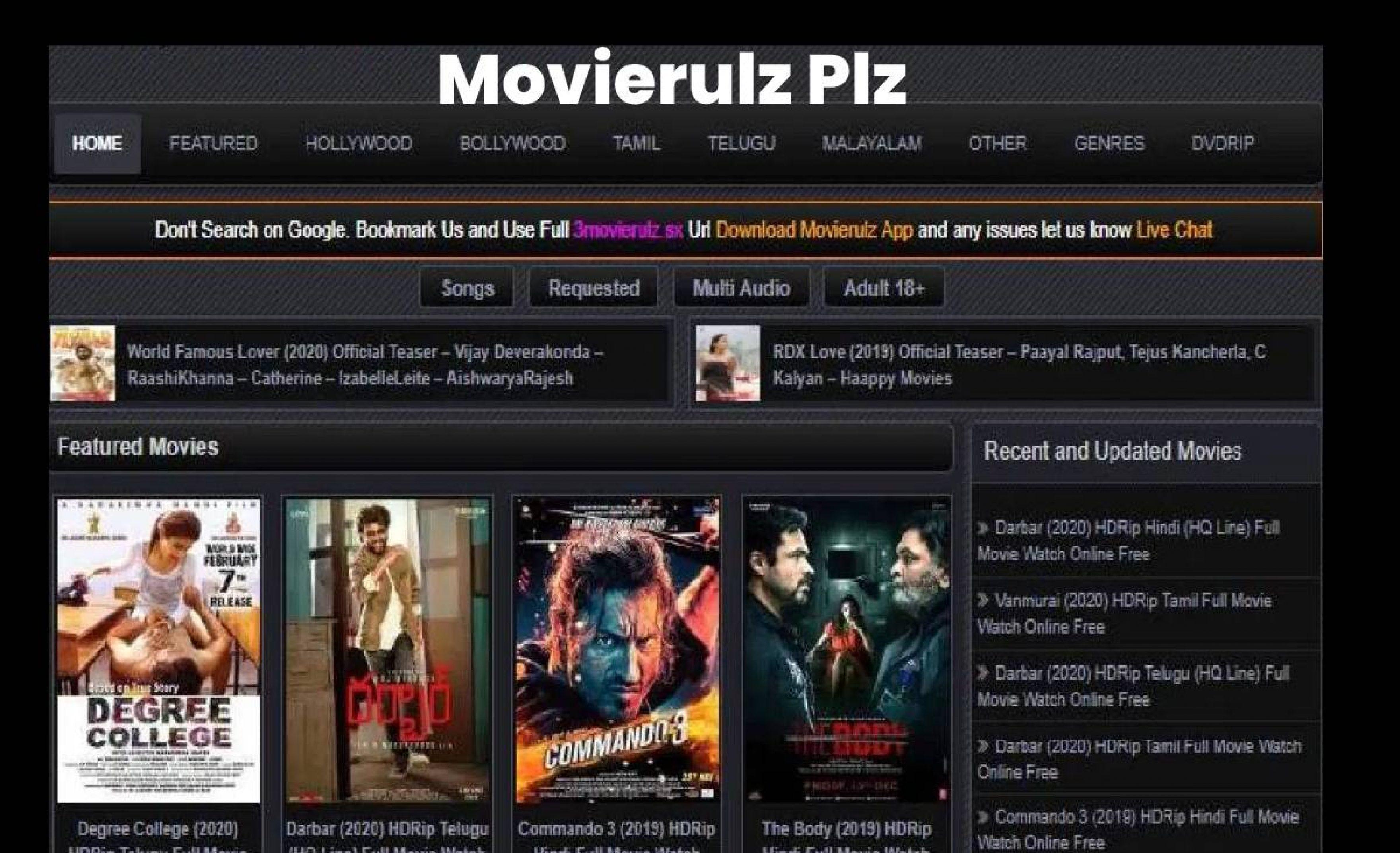 Movierulz Plz Movierulz Telugu Movies Download Movierulz 3 2020