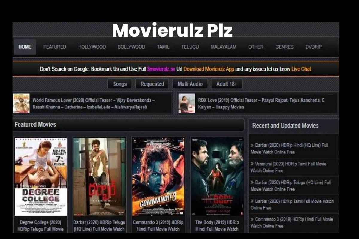 Movierulz Plz Movierulz Telugu Movies Download Movierulz 3 2020