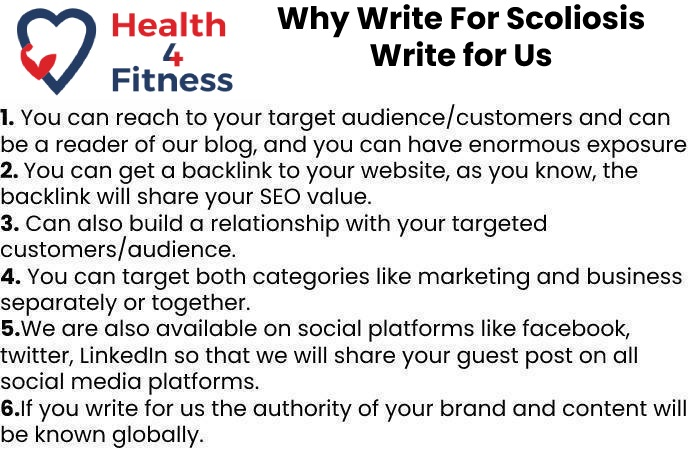 Why Write for Us Health4fitnessblog -Scoliosis Write For Us