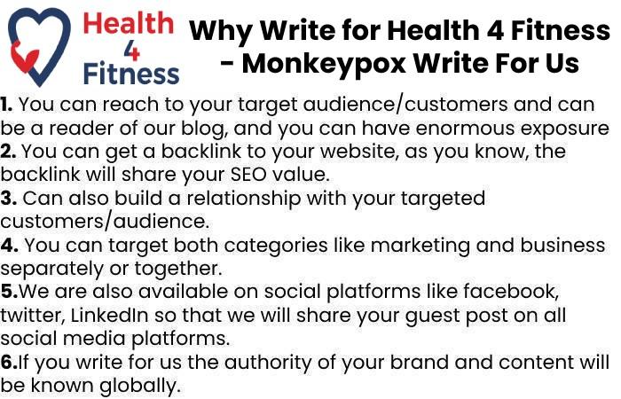 Why Write for Health4fitnessblog– Monkeypox Write For Us