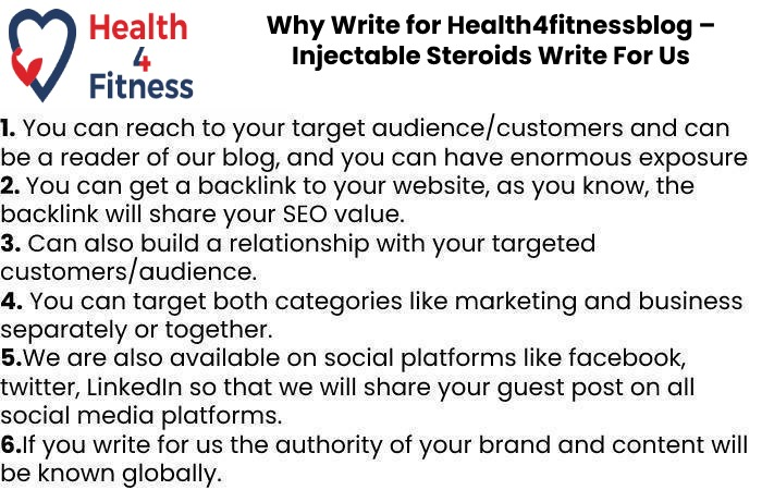 Why Write for Health4fitnessblog – Injectable Steroids Write For Us